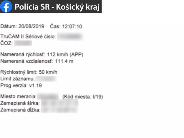 Mladík prekročil najvyššiu povolenú rýchlosť o 62 kilometrov za hodinu.