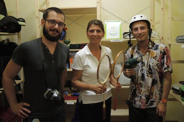 Členovia tímu, zľava Martin Gajdoš, Antónia Magdolenová aTadeáš Žďárský.