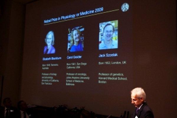 Oznámenie laureátov Nobelovej ceny za fyziológiu alebo medicínu.
