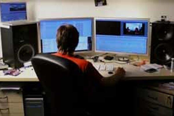 Počítač Ježiš, ktorý v redakcii SME slúži na strihanie videa.