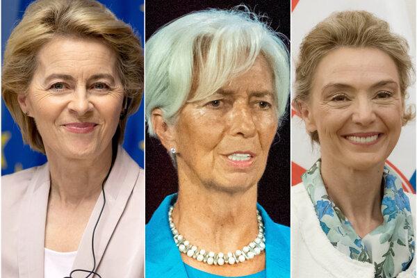 Zľava Ursula von der Leyen, Christine Lagarde a Marija Pejčinovič Burič