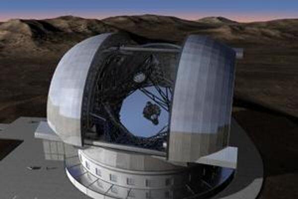 Projektovaná podoba najväčšieho ďalekohľadu na svete, ktorý chcú postaviť európske krajiny.