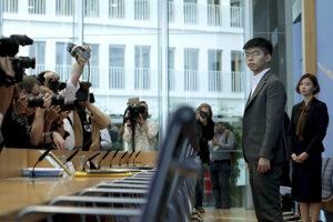 Joshua Wong v Nemecku.