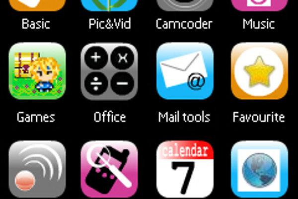 Takto vyzerá itéma na telefóne so Symbianom.