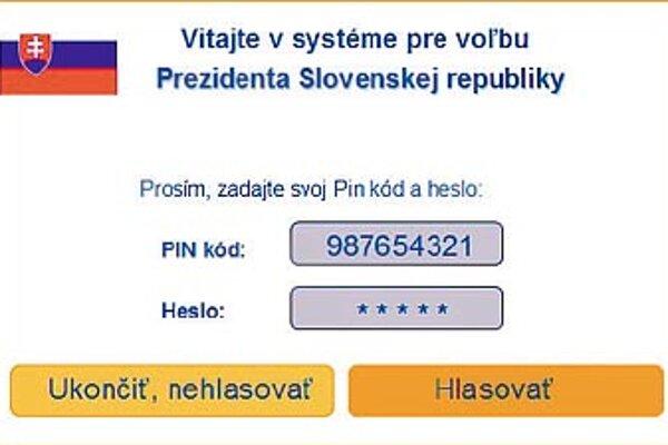 Takto by mohli vyzerať internetové voľby slovenského prezidenta. Snímky sú z volebného systému firmy Scytl.