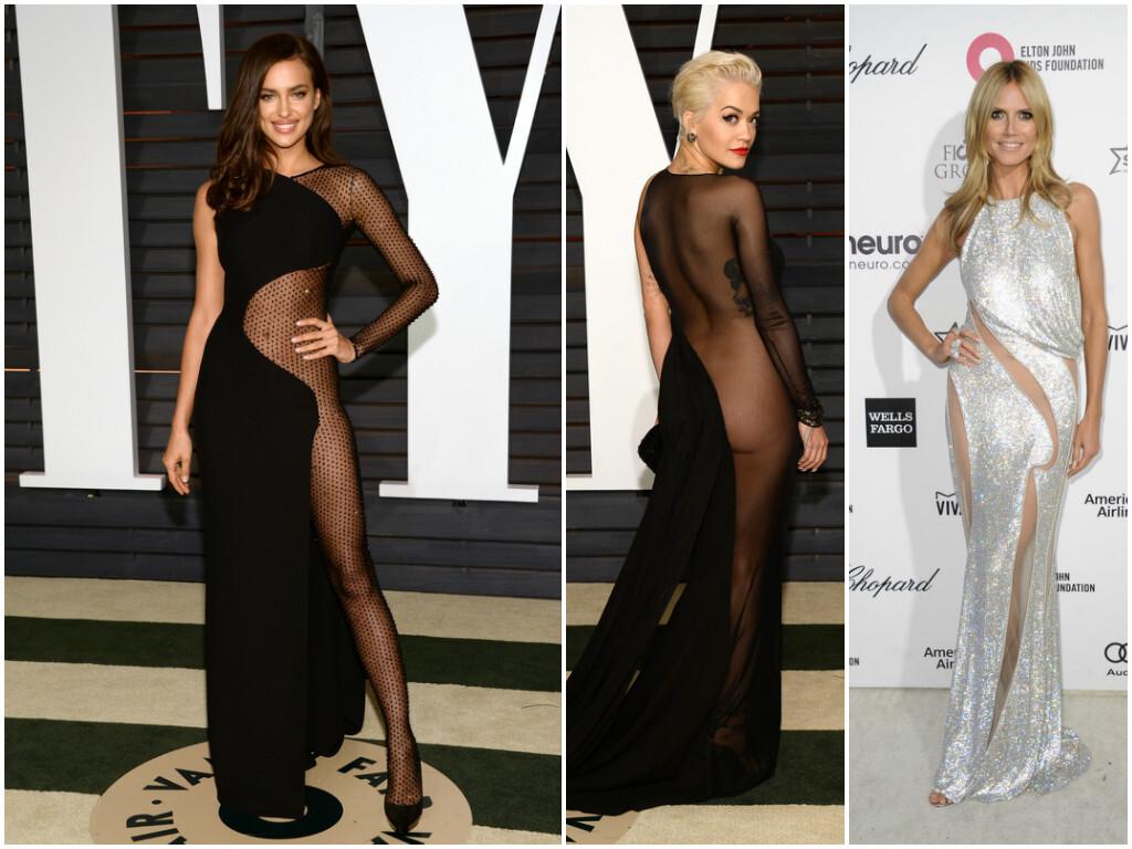Zľava: Irina Shayk, Rita Ora, Heidi Klum