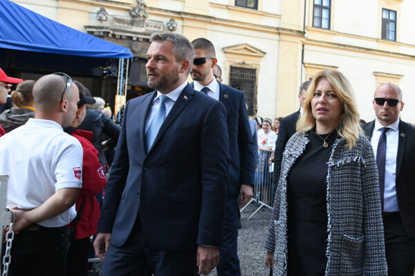 Premiér Peter Pellegrini s prezidentkou Zuzanou Čaputovou v Šaštíne 15. septembra 2019.