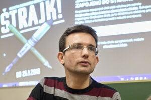 Viktor Križo zo Slovenskej komory učiteľov.
