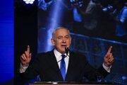 Netanjahuova strana skončila tesne druhá.