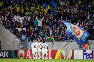 Momentka zo zápasu Slovan Bratislava - Besiktas Istanbul.