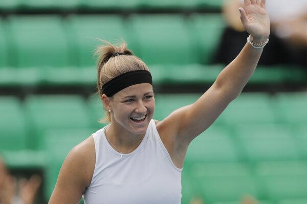 Česká tenistka Karolína Muchová na turnaji WTA v Soule 2019.