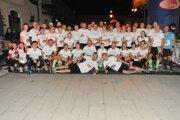 Viacerí bežci sa vydali na trať v tričkách s podobizňou Mareka Barányiho.