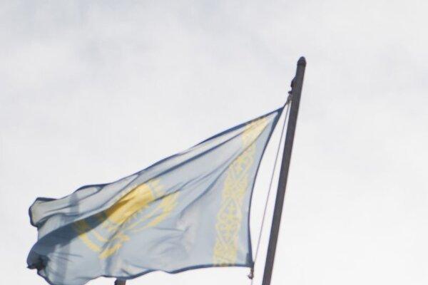 Vlajka Kazachstanu