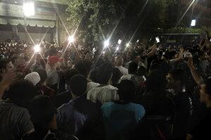 Protivládny protest v Káhire.