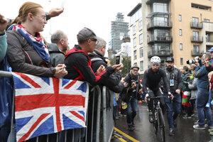 Peter Sagan prichádza na štart MS v cyklistike 2019.
