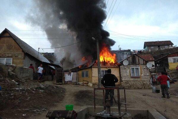 Požiar v Hrabušiciach.