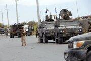 Vojenská hliadka v somálskom Mogadiše.