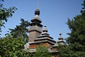 Drevená cerkva v užhorodskom skanzene.
