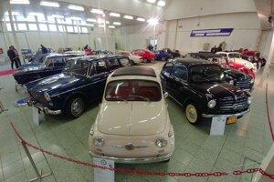Expozícia venovaná historickým Fiatom.