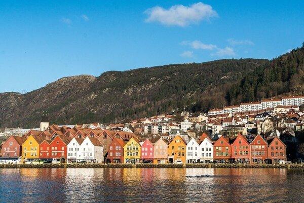 Nórske mesto Bergen.