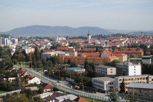 Výhľad na Prešov z kalvárie.