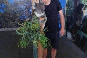 Belišova pamiatka na Austráliu. Fotka s koalou.