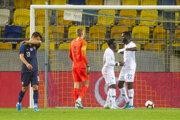 Momentka zo zápasu Slovensko - Francúzsko v kvalifikácii EURO do 21 rokov.