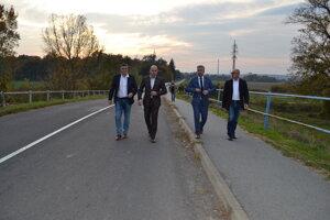 Župan KSK Rastislav Trnka na moste.