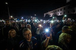 Protest v Bratislave pred NR SR.