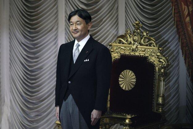 Naruhito počas otvorenia zasadnutia japonského parlamentu.