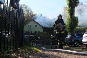Požiar rodinného domu v Kremnici.