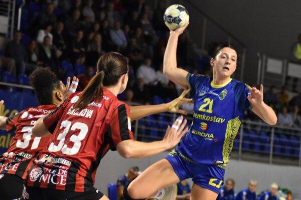 V odvete na pôde Nice sa deviatimi strelenými gólmi blysla Patrícia Wollingerová (vpravo).