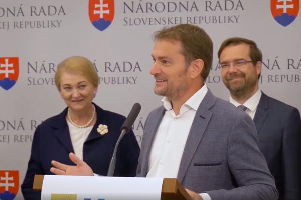 Anna Záborská a Igor Matovič.