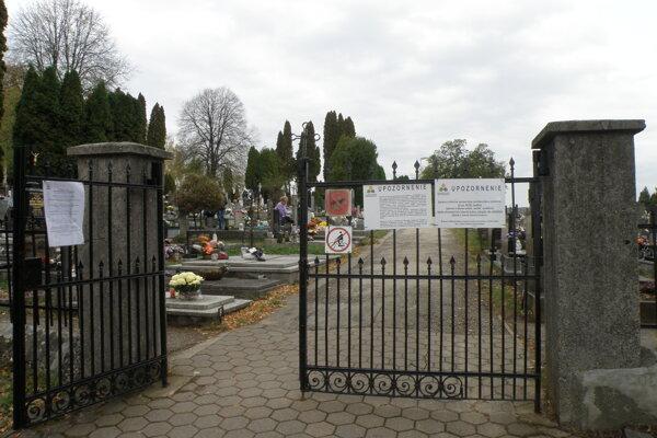 Prievidzský cintorín.