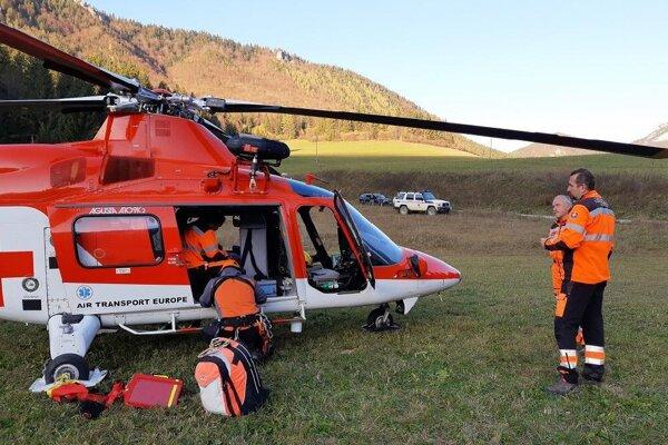 Zásah horských záchranárov.