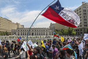 Demonštrácie v Čile.