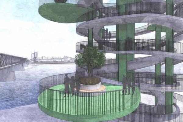 Architektonická štúdia projektu Tower Bratislava.
