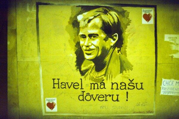 Plagáty a letáky počas Nežnej revolúcie.