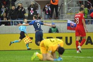 Róbert Boženík strelil gól do siete Azerbajdžanu.