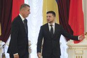Český premiér Andrej Babiš a ukrajinský prezident Volodymyr Zelenskyj.
