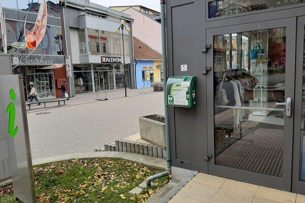 Mestská informačná kancelária v Poprade, ktorá už disponuje automatickým externým defibrilátorom.