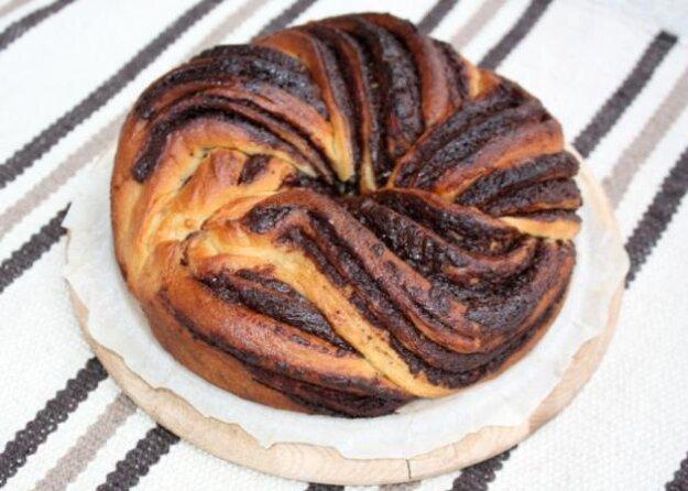 Fantastický twister čokoládový koláč