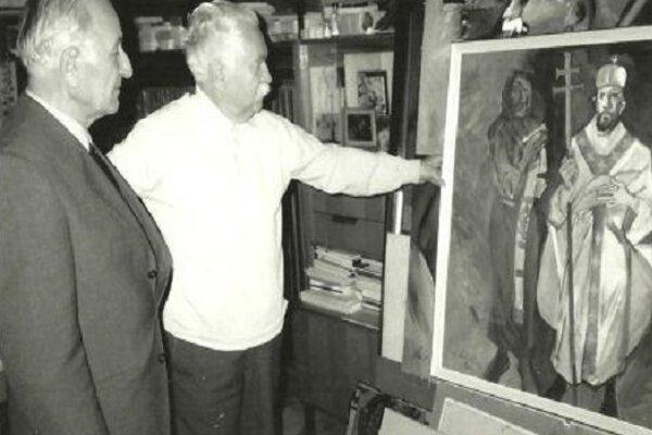 Scény vyobrazení vitráží vyberal Vincent Hložník s Mons. Ľudovítom  Balážim. Mons. Baláži stavbu kostola v Zborove nad Bystricou inicioval aj zabezpečoval.