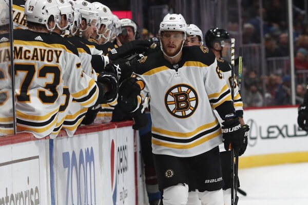 David Pastrňák je v súčasnosti najlepším strelcom NHL.