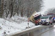 Dopravná nehoda medzi obcou Košické Oľšany a mestom Košice.