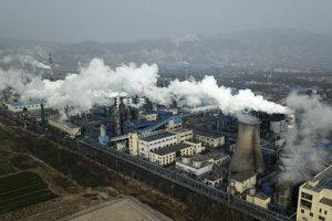Továreň na spracovanie uhlia v čínskom meste Hejin.