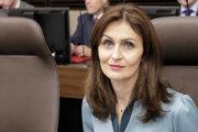 Ministerka zdravotníctva Andrea Kalavská počas rokovania vlády.