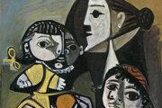 Pablo Picasso: Francoise Gilot s dcérou Palomou a synom Claudom, 1951