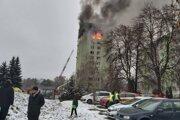 V dvanásťpodlažnej bytovke na Mukačevskej ulici v Prešove vybuchol plyn.