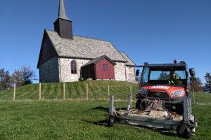 Kostol na ostrove Edøya, pri ktorom našli pohrebnú loď.